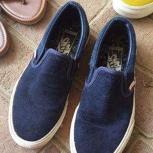 Vans Shoes | Suede Dark Blue Vans